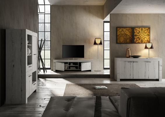 Livorno Large TV Unit - White Oak Finish image 4