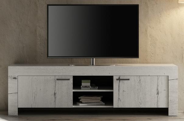 Livorno Large TV Unit - White Oak Finish