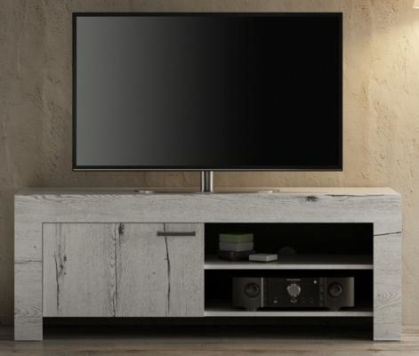 Livorno Small TV Unit - White Oak Finish