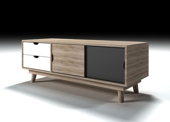 Scuna 2 door 2 drawer TV unit image 3