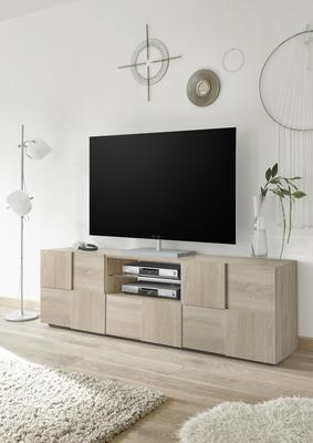 Treviso Large TV Unit - Samoa Oak image 4