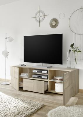 Treviso Large TV Unit - Samoa Oak image 5