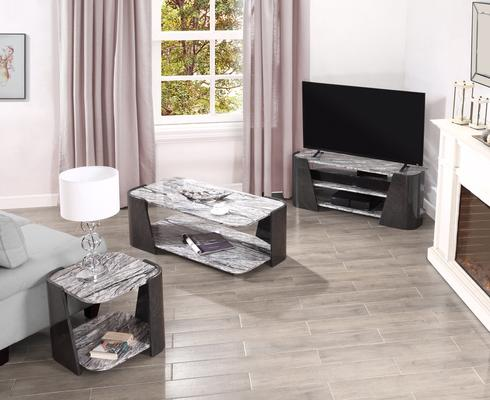 Sorrento TV Stand Dark Grey Slate High Gloss - JF906 image 6