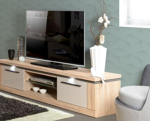 Oslo 2 door TV unit (with lighting) image 6