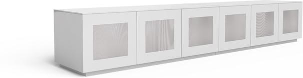 Modern extra wide 2.8m TV cabinet in high gloss white image 2