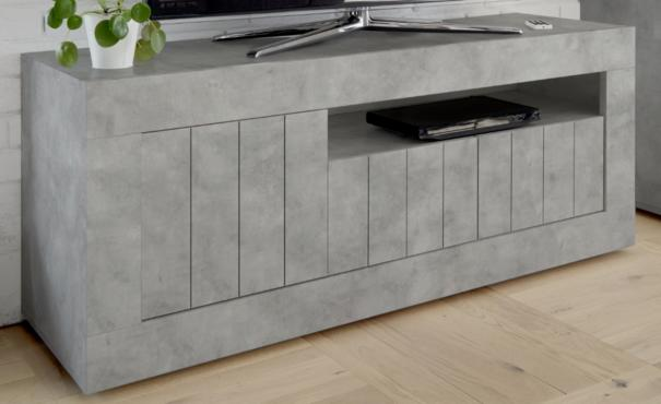 Como Three Door TV Unit - Grey Finish