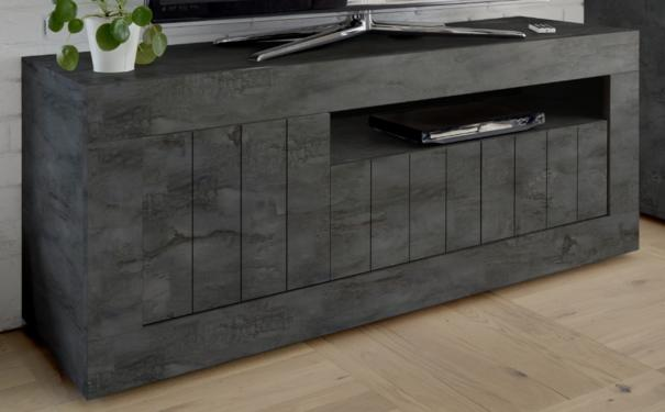 Como Three Door TV Unit - Anthracite Finish