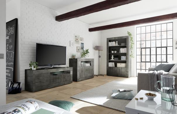 Como Three Door TV Unit - Anthracite Finish image 2