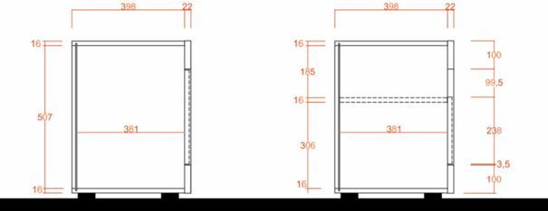 Como Three Door TV Unit - White Gloss and Dark Walnut Finish image 6