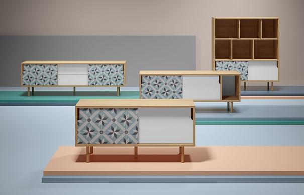 Dann (tiles) TV table image 14