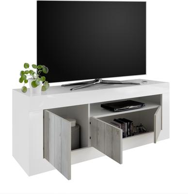 Como Three Door TV Unit  - Grey and Anthracite Finish image 3