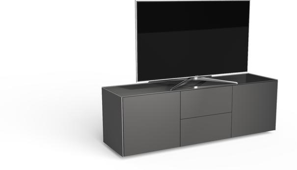 Contemporary Matt Grey TV cabinet With Hidden Wireless Phone Charging