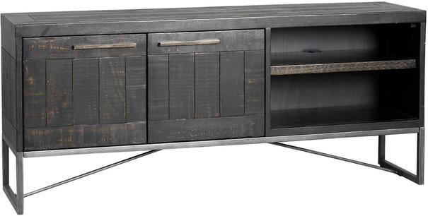 Hadley Charcoal TV Media Unit Dark Pine