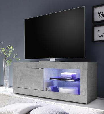 Urbino Collection Small TV Unit with Optional  LED Spot Light - Grey Finish