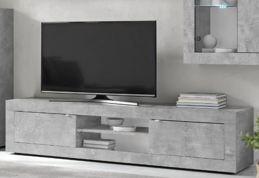 Urbino Collection Big TV Unit with optional LED Spotlight  - Grey Finish