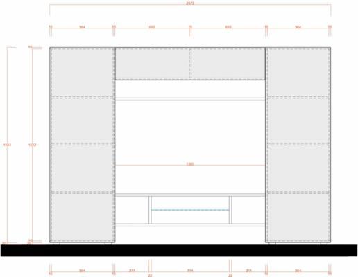 Treviso Wall Media Unit Including LED Spotlight - White Gloss Finish image 4