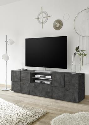 Treviso Large TV Unit - Anthracite Finish