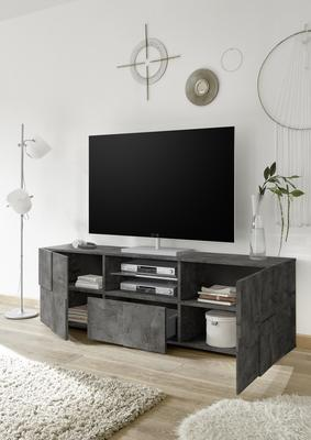 Treviso Large TV Unit - Anthracite Finish image 2