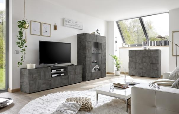 Treviso Large TV Unit - Anthracite Finish image 3