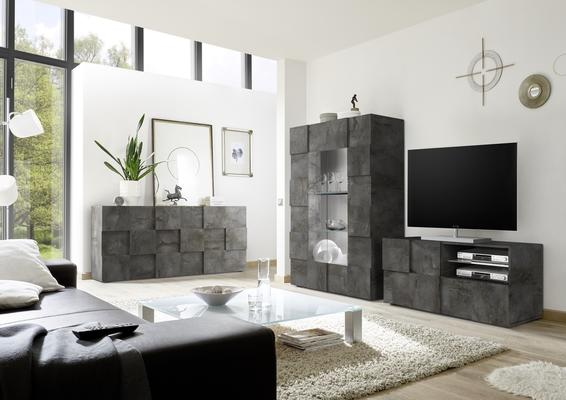 Treviso Small TV Unit - Anthracite Finish image 3