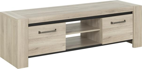 Albin TV Media Unit Two Doors - Light Oak Finish