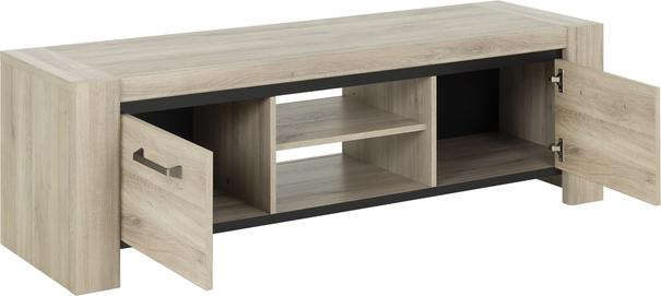 Albin TV Media Unit Two Doors - Light Oak Finish image 3