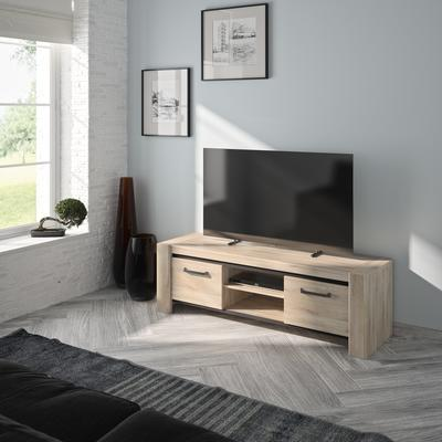 Albin TV Media Unit Two Doors - Light Oak Finish image 4