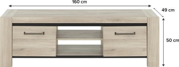 Albin TV Media Unit Two Doors - Light Oak Finish image 5