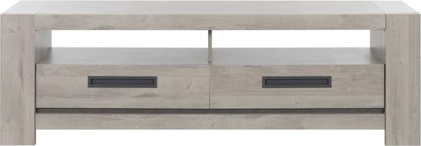 Boston TV Unit with Two Drawers - Light Grey Oak Finish image 2