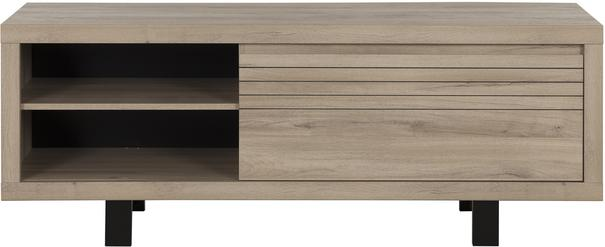 Clay TV Unit One Drawer - Light Natural Oak Finish image 2