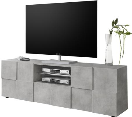 Treviso Large TV Stand - Concrete Grey finish