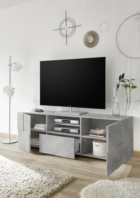 Treviso Large TV Stand - Concrete Grey finish image 2