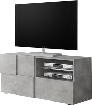 Treviso Small TV Unit - Concrete Grey Finish