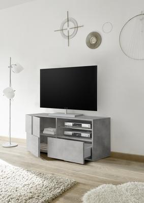 Treviso Small TV Unit - Concrete Grey Finish image 2