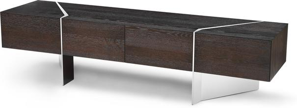 Nautilus Dark Oak TV and Media Unit 4 Drawers