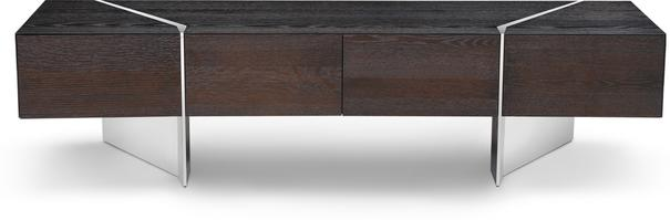 Nautilus Dark Oak TV and Media Unit 4 Drawers image 3