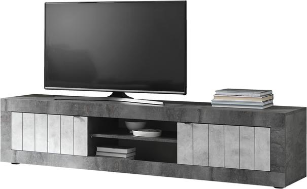 Como Large  TV Unit - Anthracite and Grey Finish