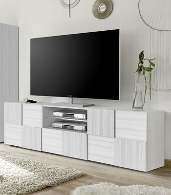 Treviso Large TV Unit- Silver Grey Finish