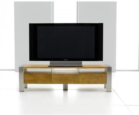 Alamos solid oak TV unit image 3
