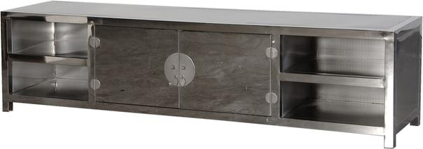Metal TV/Media Unit in Silver