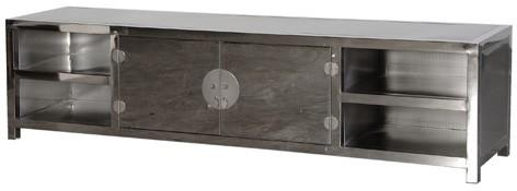Metal TV/Media Unit in Silver image 2