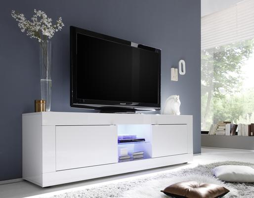 Urbino Collection Big TV Unit Including Led Spot - White Gloss Lacquer