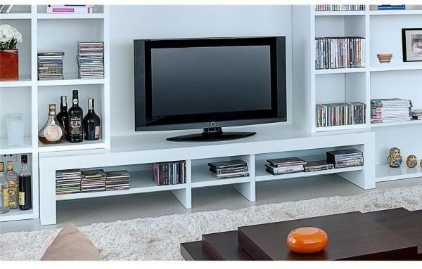 TemaHome Fusion Modern TV Unit - Matt White, Oak or Walnut
