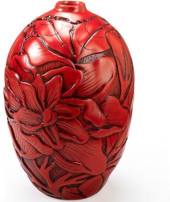 Peony Red Resin Vase