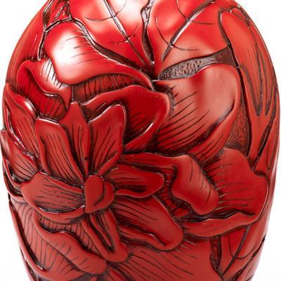 Peony Red Resin Vase image 2