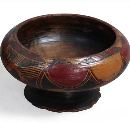 Painted Wooden Bowl image 4