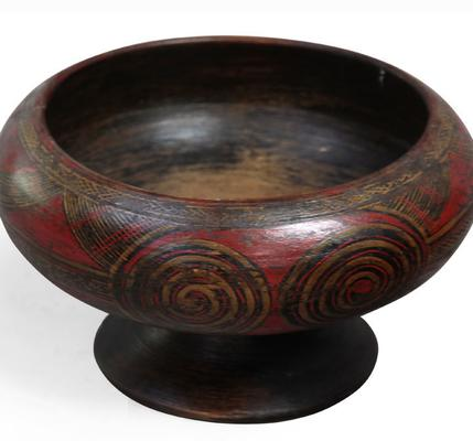 Painted Wooden Bowl image 5