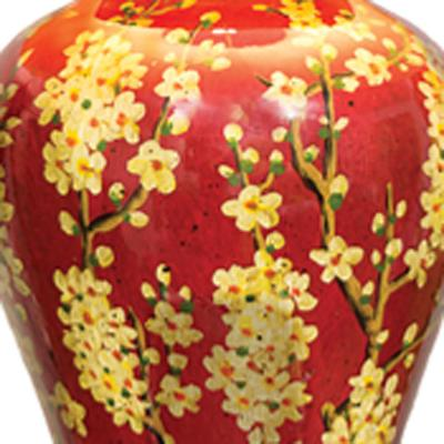 Jasmine Vase Lamp in Red and Gold image 2