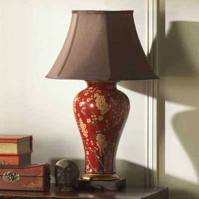 Jasmine Vase Lamp in Red and Gold image 3