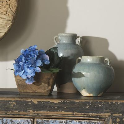 Ceramic Handled Jar - Pale Blue image 3